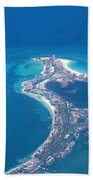 Aerial View Of Cancun Beach Towel