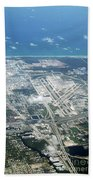 Aerial View Of Fort Lauderdale Airport. Fll Beach Towel