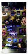 Aerial View Of Norco Fair - Pottstown Pa Beach Towel