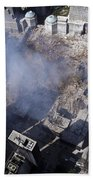 Aerial View Of The Destruction Where Beach Towel by Stocktrek Images