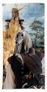 Afghan Hound-falconer And Windmill Canvas Fine Art Print Beach Towel