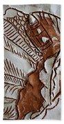 African Angel - Tile Beach Towel