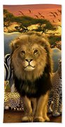 African Beasts Beach Towel