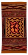 African Collage Rust Beach Towel