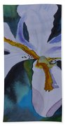 African Iris Beach Towel
