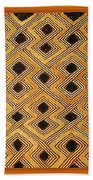 African Kuba Design Beach Towel