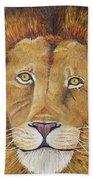 African Lion Beach Towel