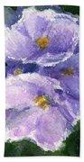 African Violet Beach Towel