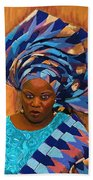 African Woman 5 Beach Towel