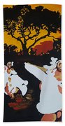 Afro Carib Dance Beach Towel
