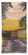 After Rain On The Wolds Way Beach Towel