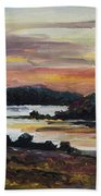 After Sunset At Lake Fleesensee Beach Towel