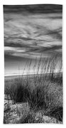 After Sunset In B And W Beach Towel
