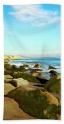 After The Fog Gaviota Beach Towel