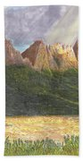 After The Monsoon Organ Mountains Beach Towel