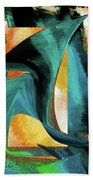 After The War Abstract Beach Towel