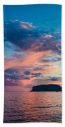 Afterglow On The Lakeshore Beach Towel