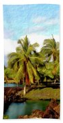 Afternoon At Mauna Lani Hawaii Beach Towel