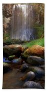 Afternoon Delight At Upper Bridal Veil Falls Beach Towel