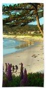 Afternoon On Carmel Beach Beach Towel