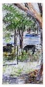 Afternoon Siesta On The Farm Beach Towel