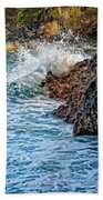 Against The Rocks Beach Towel