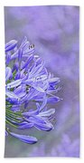 Agapantha Lilac Pastel By Kaye Menner Beach Towel