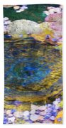 Agape Gardens Autumn Waterfeature II Beach Towel