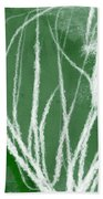Agave- Abstract Art By Linda Woods Beach Towel