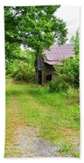 Aging Barn In Woods Beach Towel
