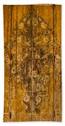 Aging Decorative Door Beach Towel