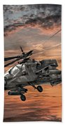 Ah-64 Apache Attack Helicopter Beach Towel