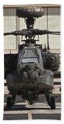 Ah-64d Apache Longbow At Pinal Airpark Beach Towel