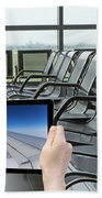 Air Travel Concept Beach Towel