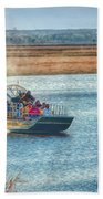 Airboat Rides Beach Towel