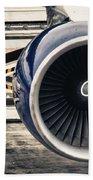 Airbus Engine Beach Towel by Stelios Kleanthous