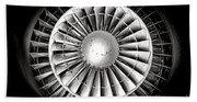 Aircraft Turbofan Engine Beach Towel