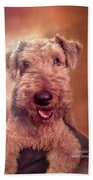 Airedale Beach Towel