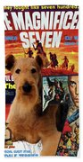 Airedale Terrier Art Canvas Print - The Magnificent Seven Movie Poster Beach Towel