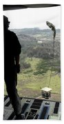 Airman Watches A Practice Bundle Fall Beach Towel by Stocktrek Images