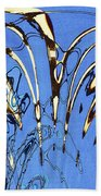 Airplane And Crane Abstract Beach Towel