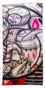 Airplane Grafitti Beach Towel