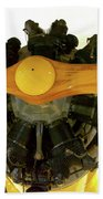 Airplane Wooden Propeller And Engine Timm N2t-1 Tutor Beach Towel