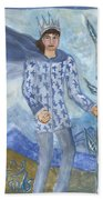 Airy King Of Wands Beach Towel