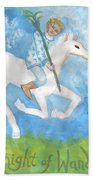 Airy Knight Of Wands Beach Towel