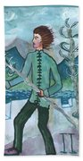 Airy Two Of Wands Illustrated Beach Towel