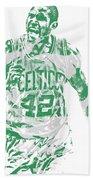 Al Horford Boston Celtics Pixel Art 7 Beach Towel