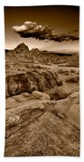 Alabama Hills California B W Beach Towel