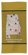 Alabama Loves Dogs Beach Towel