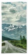 Alaska On The Road  Beach Towel